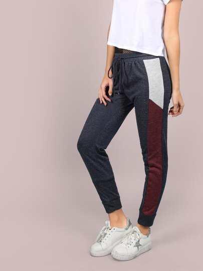 Heathered Colorblock Sweatpants NAVY