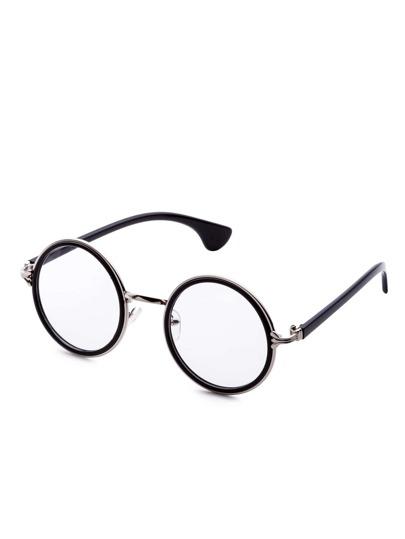 Gafas de sol redondas estilo retro - negro
