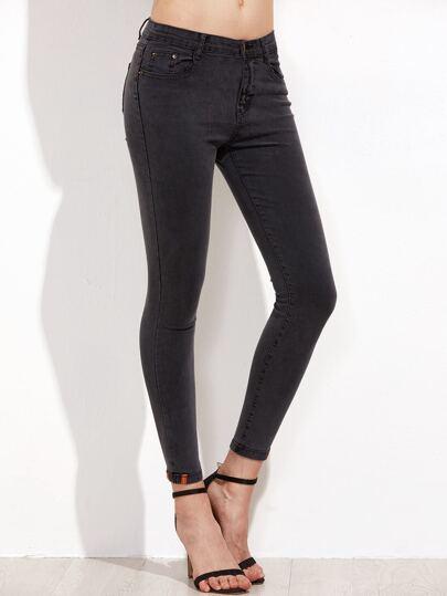 Skinny Knöchel Jeans-dunkel grau