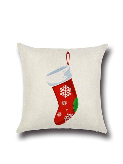 Kissenbezug WeihnachtsSchneemann Druck-weiß