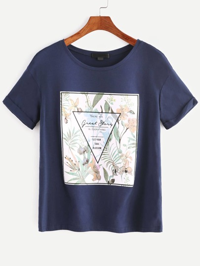 Graphic Print Short Sleeve T-shirt