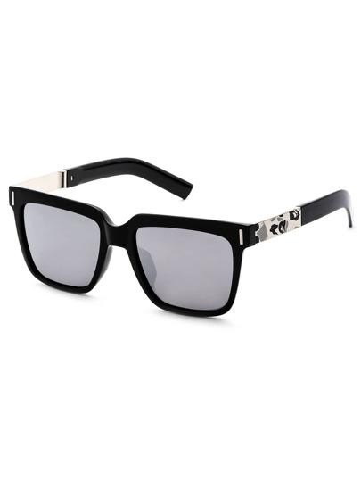 Square Frame Smoke Lens Sunglasses