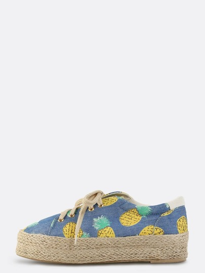 Pineapple Flatform Sneakers MULTI