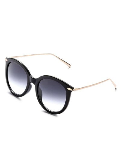 Black Frame Metal Arm Sunglasses