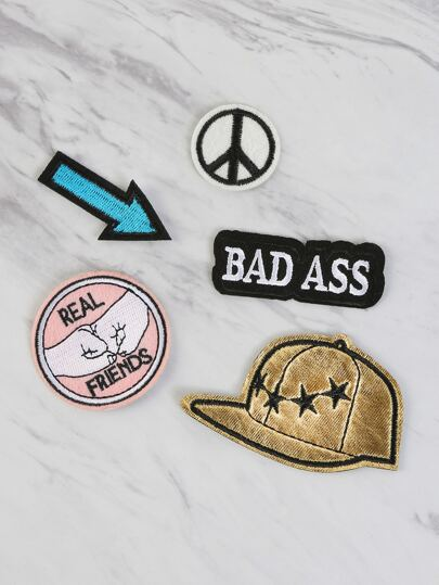 Edgy Iron On Patches Set MULTI