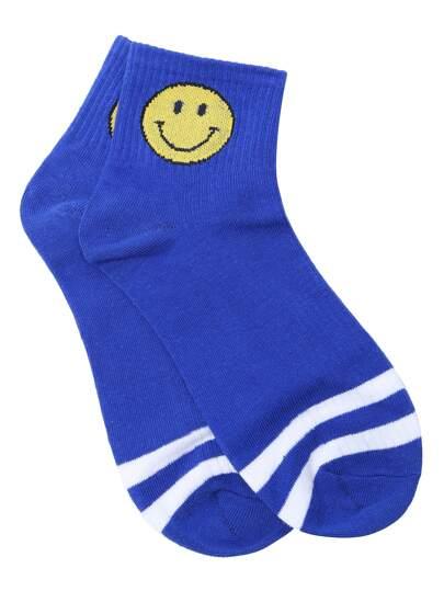 Calcetines con estampado de emoji - azul