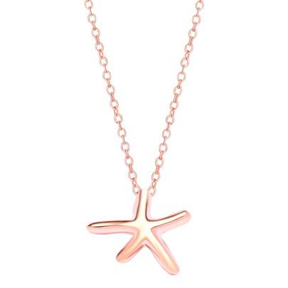 Rose Rose Plaqué Starfish Pendentif Collier