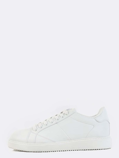 Classic Round Toe Sneakers WHITE