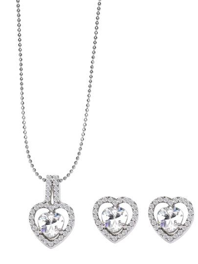 Crystal Inlay Heart Shape Beaded Jewelry Set