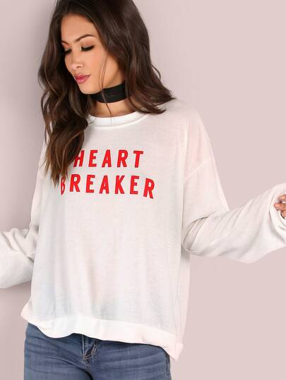Lightweight Heart Breaker Pullover IVORY
