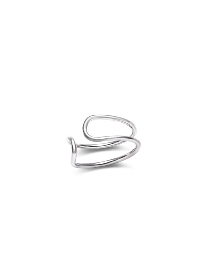 Silver Plated Simple Earring Clip Single Sell