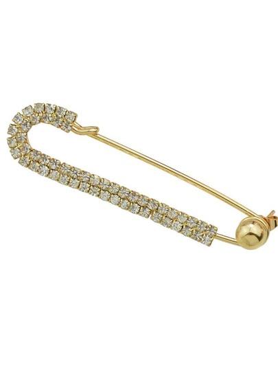 Gold Shape Hanging Stud Earrings (1 Piece)