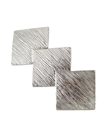 Clip para el pelo con diseño geométrico - plateado