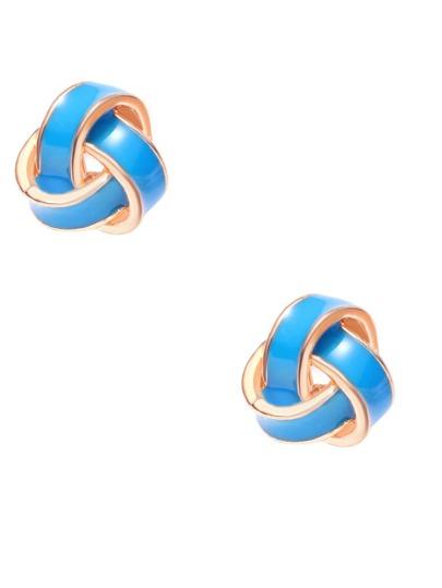 Orecchini Modellazione Twining - Blu Oro