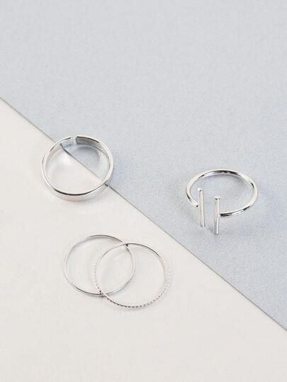 Open Ended Ring Set SILVER