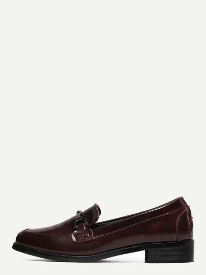 Zapatos planos con adorno metalizado - burdeos