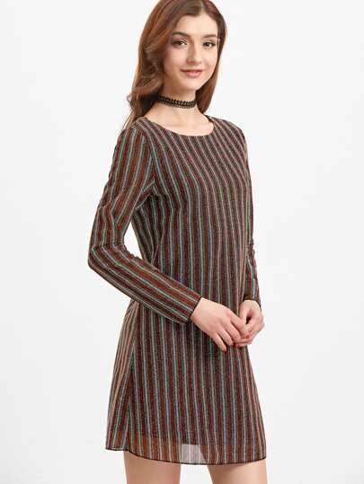 Vestido a rayas - multicolor