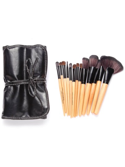32PCS Log-material Professional Makeup Brush Set With Leather Bag