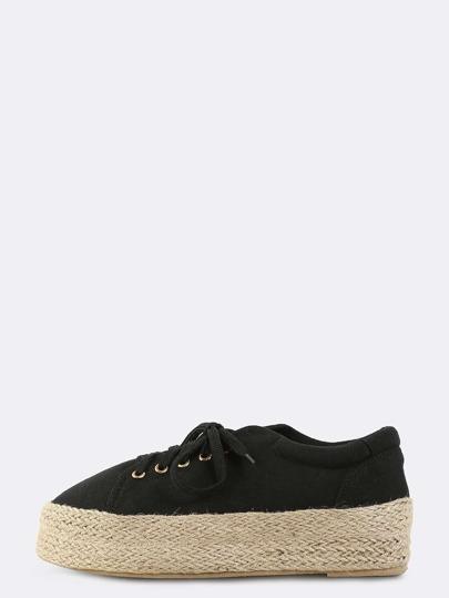 Espadrille Platform Sneakers BLACK