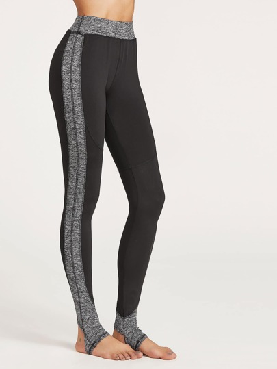 Contrast Marled Knit Leggings