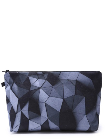 Geo Print Casual Makeup Case