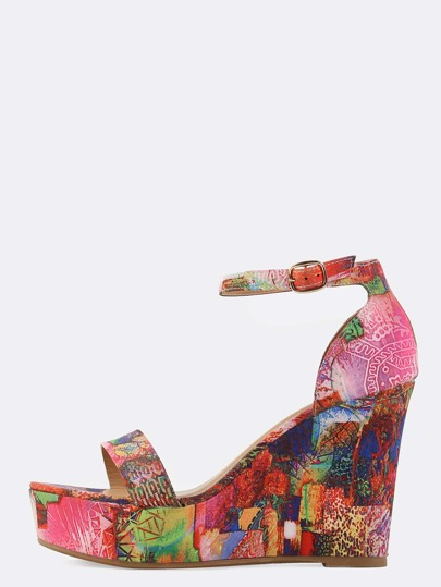 Abstract Patchwork Wedges ORANGE MULTI