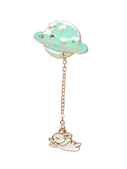 Rabbit and Star Gold Tone Casual Brooch