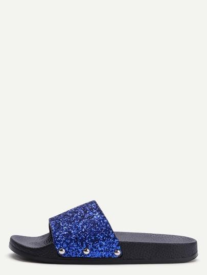 Sandalen mit Glitter Pailletten-königsblau