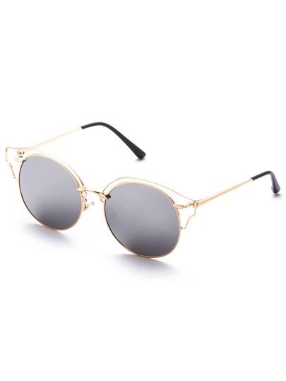 Gafas de sol estilo ojos de gato - plateado