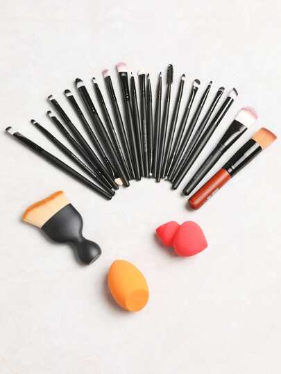 Multi-use Makeup Brush Powder Puff Cleaning Tool Set