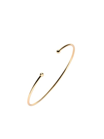 Gold Plated Metal Smooth Design Wrap Bangle