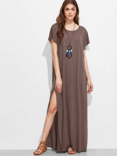 Split Side Full Length Dress