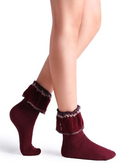 جوارب حلوة حمراء