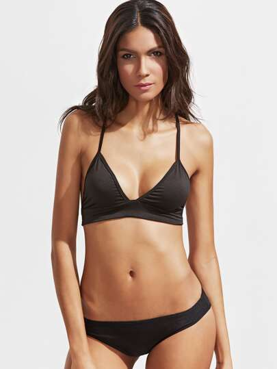 Black Triangle Sexy Bralet