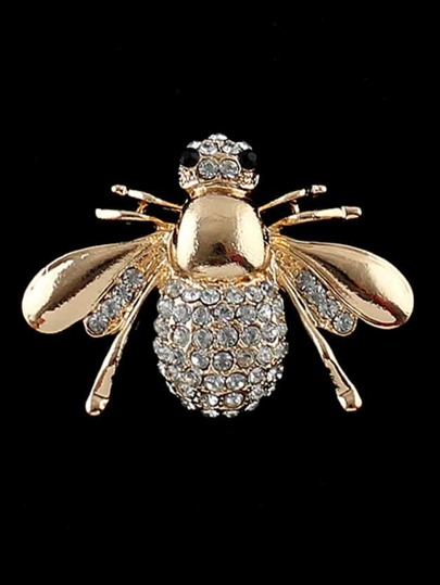 Vivid Bee Shape Rhinestone Brooch