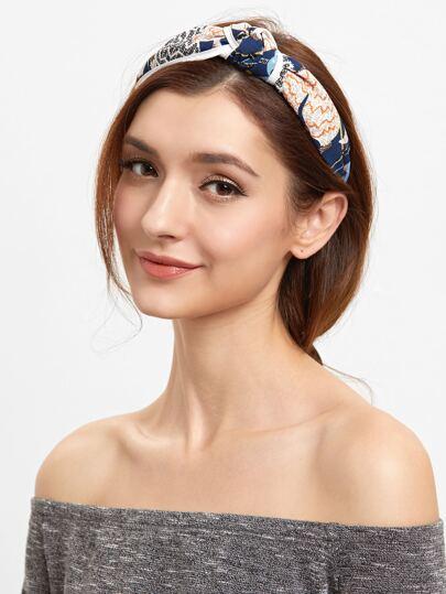 Модная поязка для волос с принтом