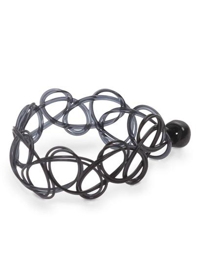 Schwarz Line-Wicklung Einfache Ringe
