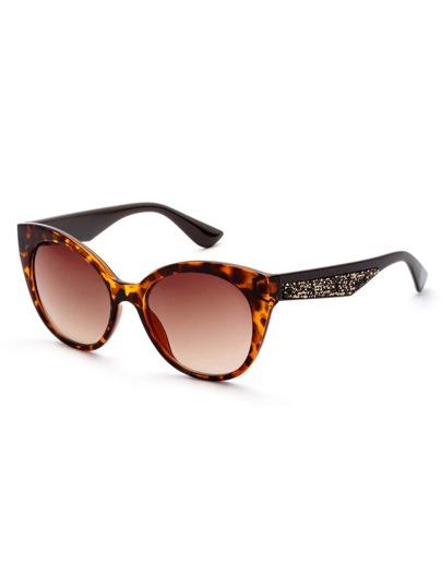Lunettes de soleil léopard cadre oeil de chat