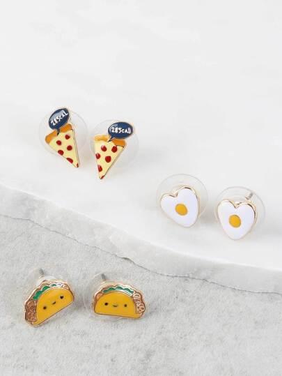 Foodie Earrings Set MULTI