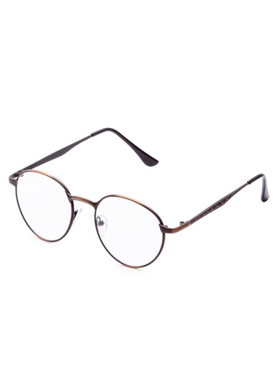 Metal Round Clear Les Glasses