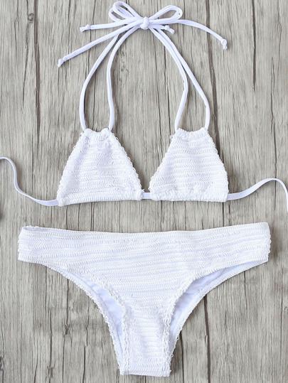 Halter Tie Back Bikini Set