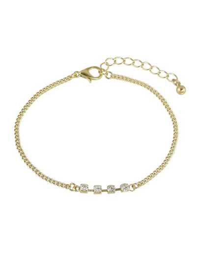Braccialetto a catena con strass - oro
