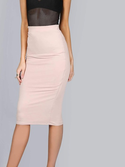 Jersey Knit Midi Skirt