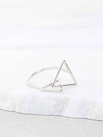 Interlinked Triangle Ring SILVER
