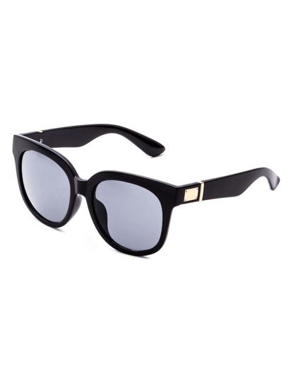 Schwarze runde Objektiv-Sonnenbrille