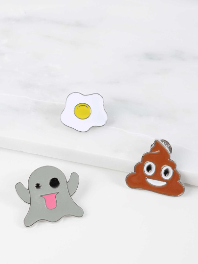 Emoji Enamel Pin Set MULTI