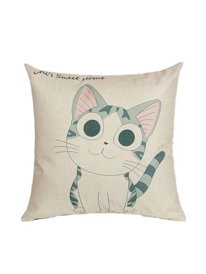 Aprikosen-Katze-Druck-Kissenbezug-Abdeckung
