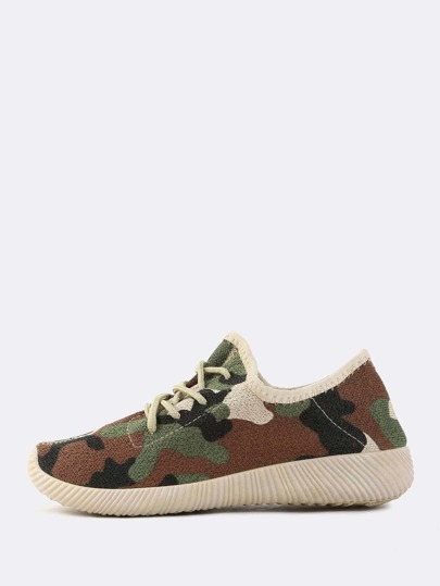 Camouflage Flyknit Sneakers CAMOUFLAGE