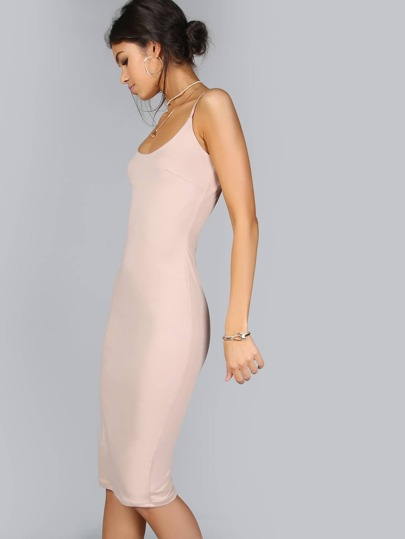 Formfitting Cami Dress TAUPE