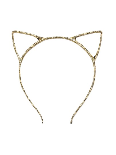 Gold Cute Cat Ears Headband
